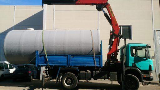 Depósito agua fibra vidrio
