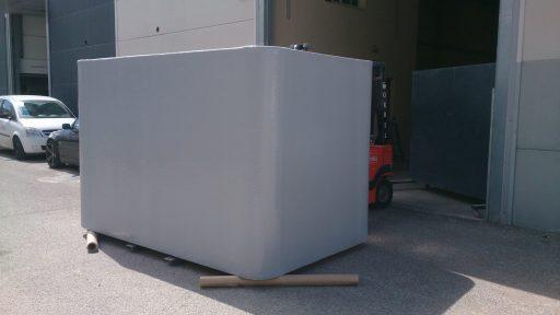 Depósito rectangular prfv