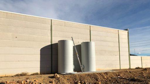 Depósitos verticales para agua